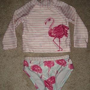 Gymboree Flamingo Swimsuit 12-18 months